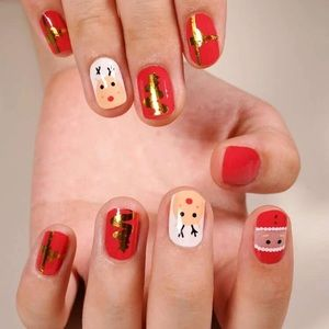 Other - Reindeer and Santa Nail Wrap
